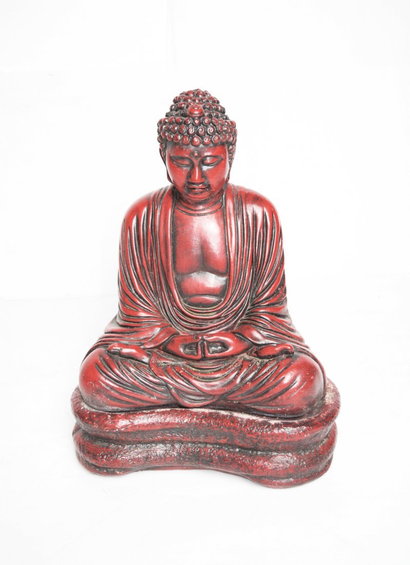 A 19th Century Stone Carved Buddha Statue