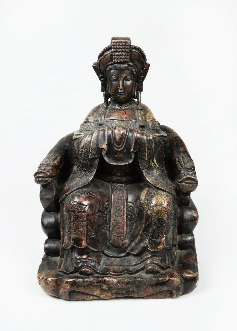 A Republic Era Chinese Granite Statue of Goddess Mazu