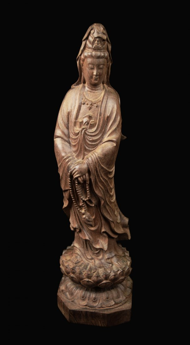 A Chinese Agilawood Guanyin Statue