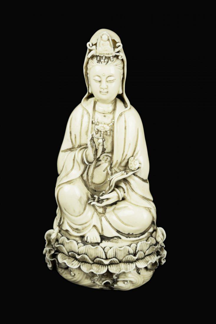 A Republic Era Chinese Dehua White Porcelain Ruyi