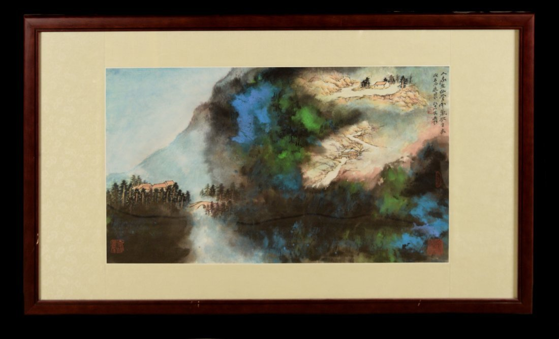 "Chinese Painting ""Mountain"" marked as ""Zhang, Daqian"""