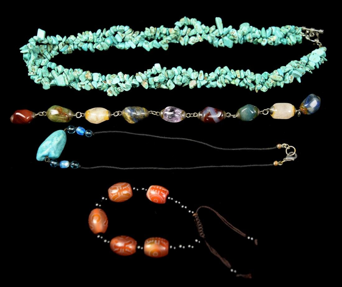 Assorted Jewelry Set with Turquoise Necklace, Pendant,