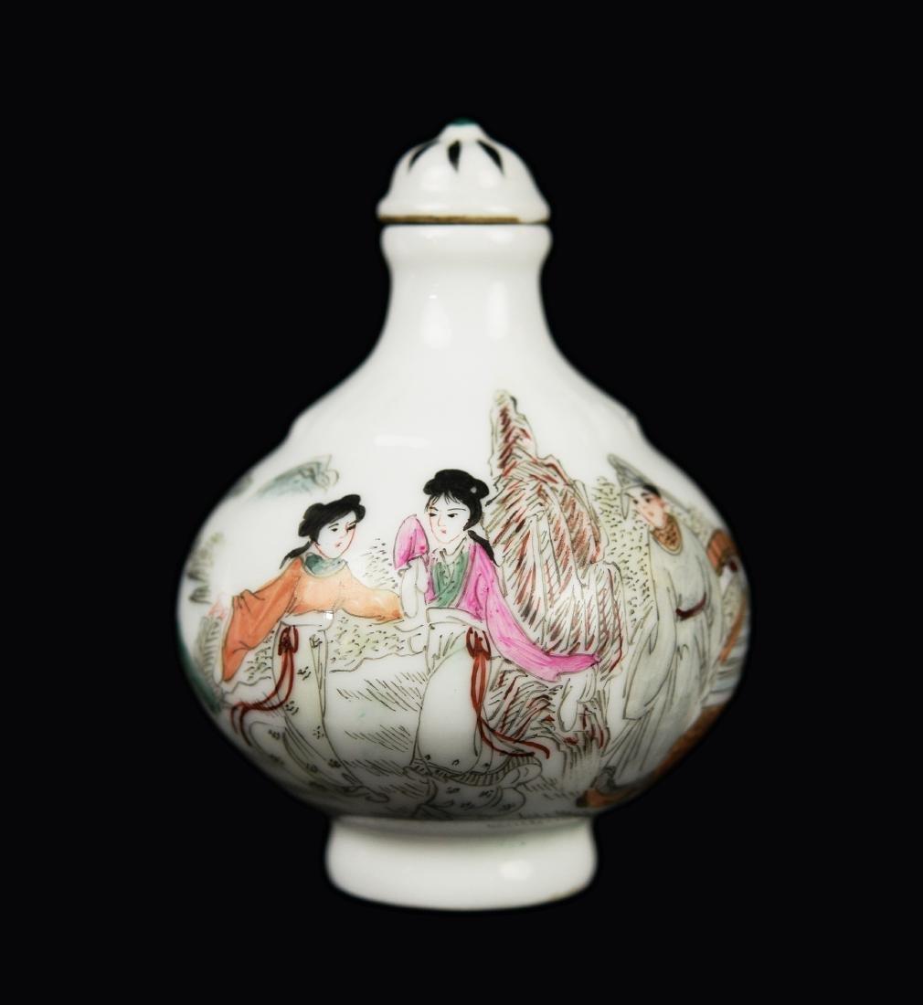 A Republic Era Chinese Famille Rose Porcelain Snuff