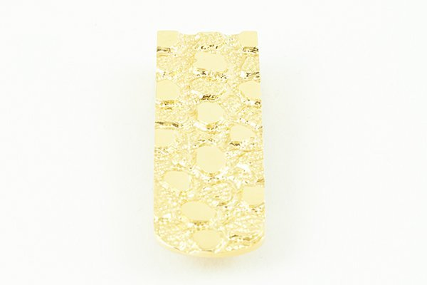 14K Yellow Gold Money Clip with Nugget Design - 3