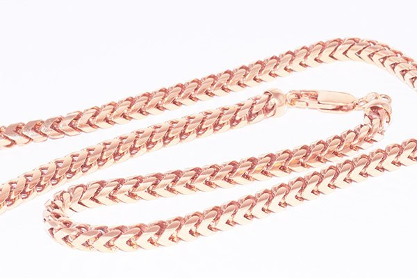 "14K Rose Gold Italian Franco Chain 20"" Necklace - 5.5mm"