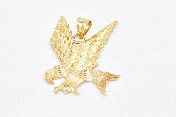 14K Yellow Gold Eagle Charm Pendant