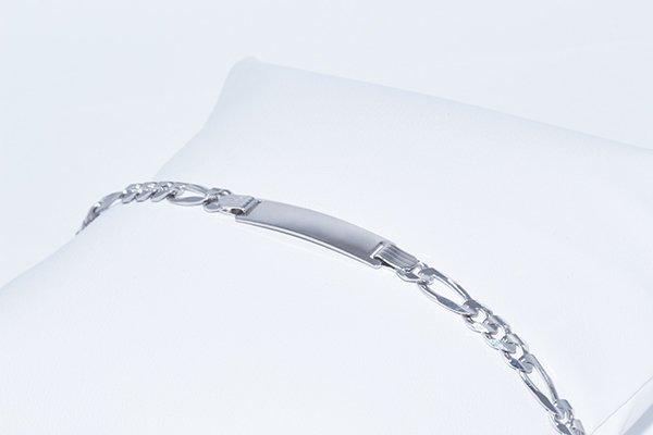 "14K Kids ID Italian Figaro Bracelet 6.25"", 4.6mm links"