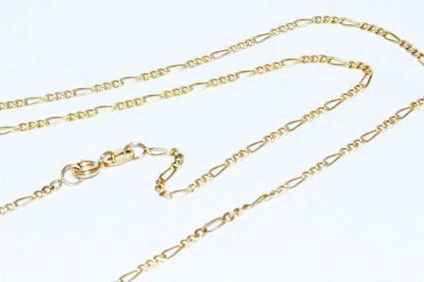 "14K Gold Italian Figaro Chain 22"" Necklace -1.75mm"