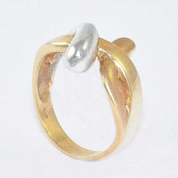14K Ladies Ring in Two-Tone Designed w/ Infinity Symbol