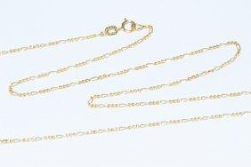 "14k Gold Italian Figaro Chain 18"" Necklace -1.2mm"