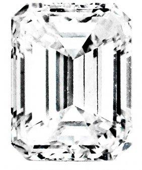 1.30 Ct Emerald Step Diamond H Si1 Certified