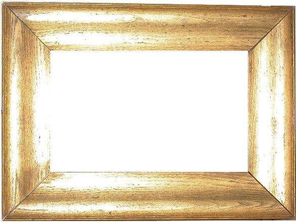 3: American, 19th Century, gold on oak frame 8 x 13 x 3