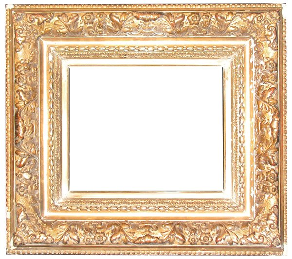 1: American, 20th Century, applied ornament & gilded, B