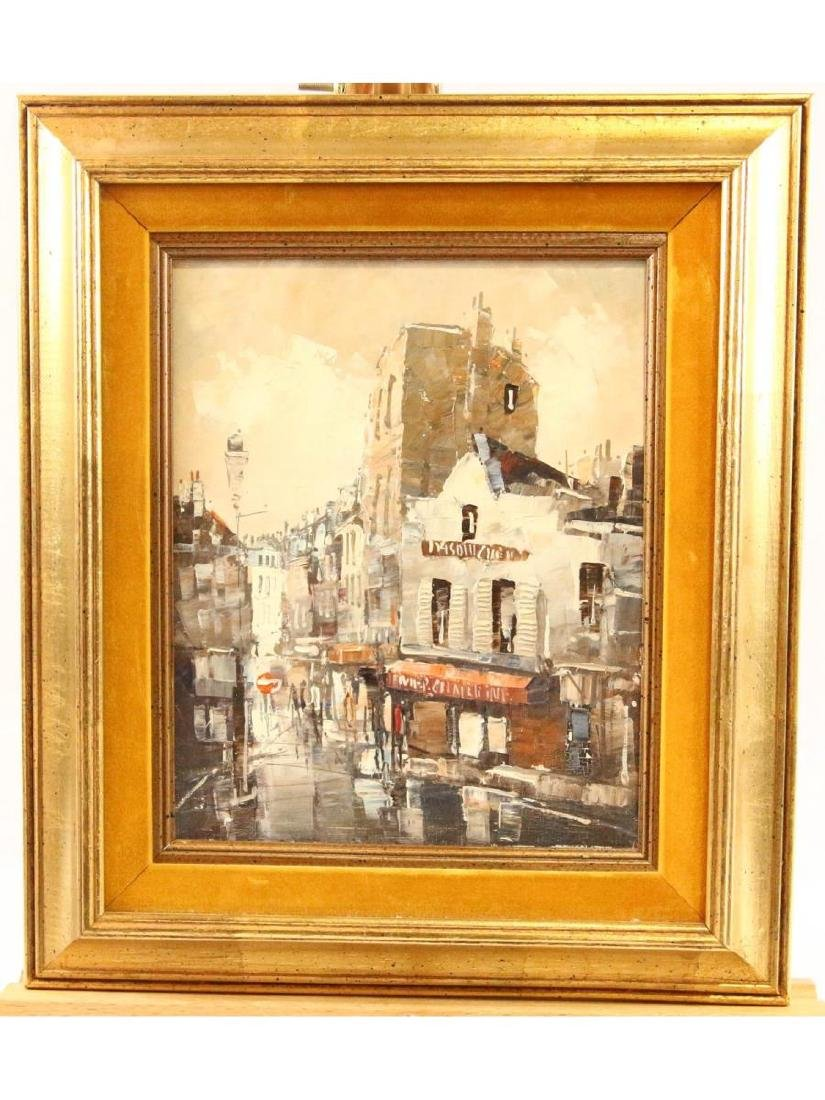 French Street Scene with Figures Unknown Artist