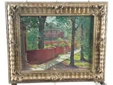Landscape Framed Oil on Canvas Board