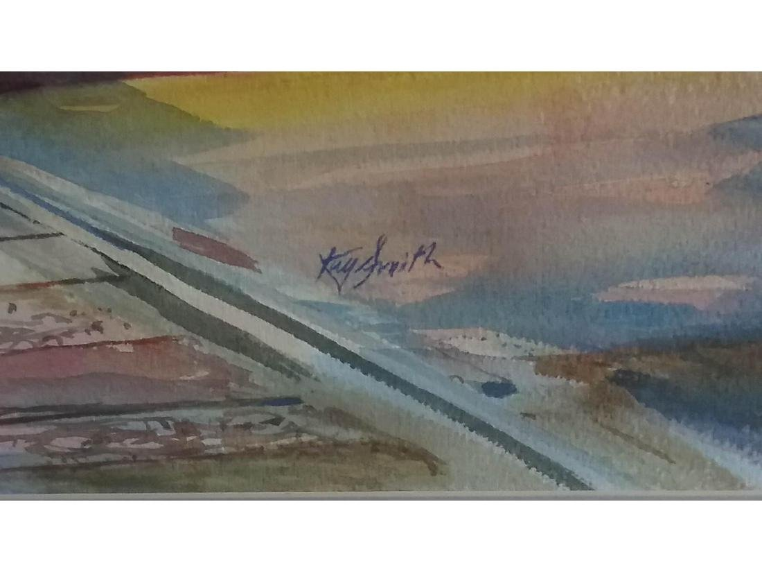 Kay Smith Train Station Framed Watercolor - 2
