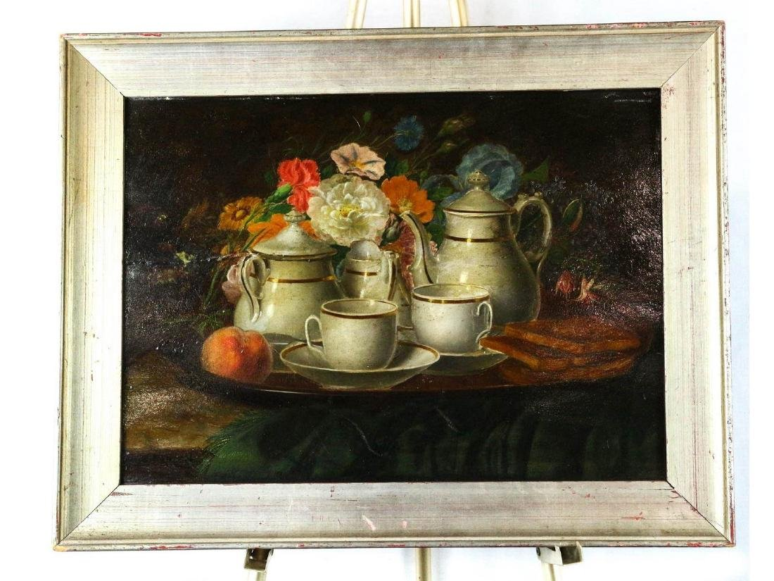 Still Life with Tea Service by M.V. Buren