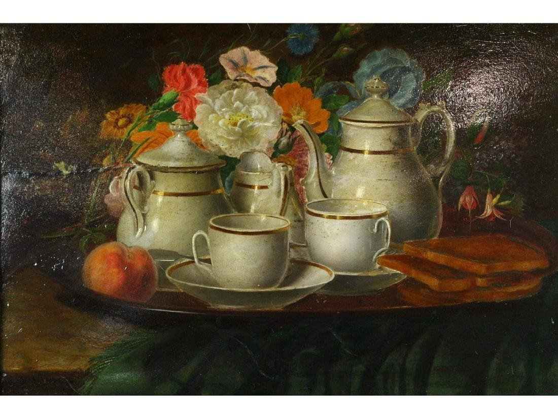 Still Life with Tea Service by M.V. Buren - 2