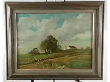 Landscape Framed Oil Painting on Canvas