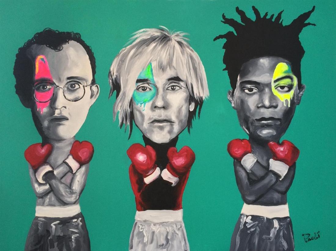 """""""Three Kings"""" Mixed Media on Canvas"""