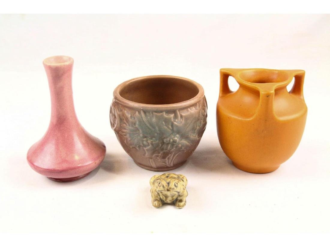 4 Pieces of Art Pottery
