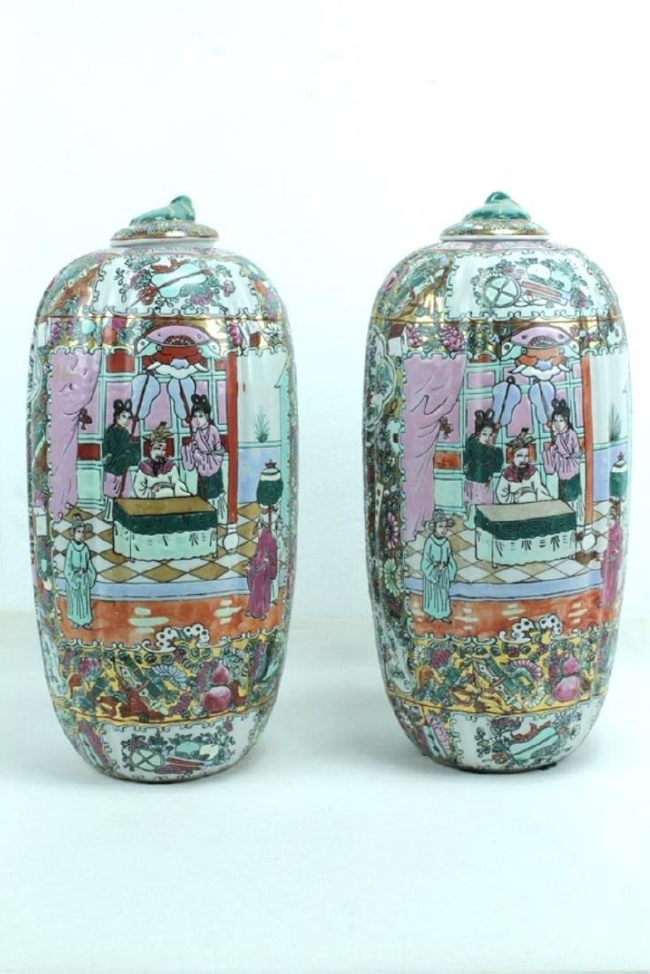 Pair Of Mid 20th Century Chinese Urns