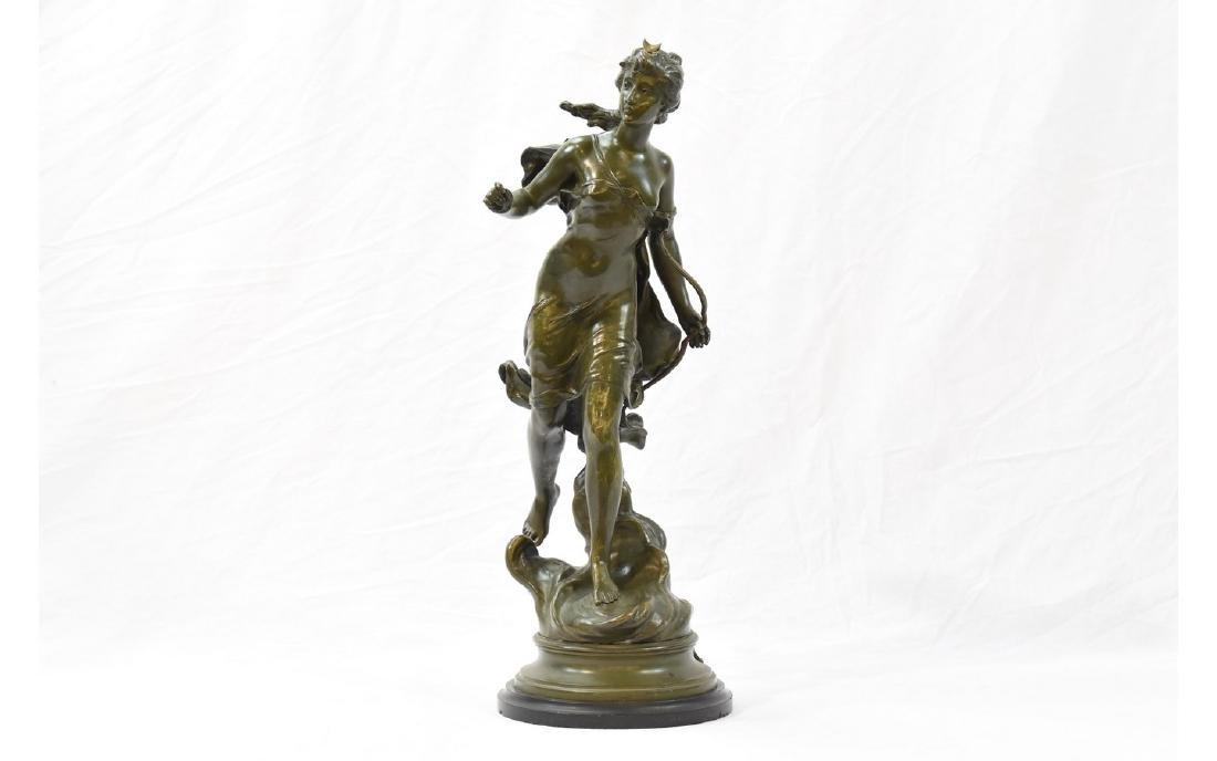 Antique Hippolyte Moreau Case Bronze Sculpture