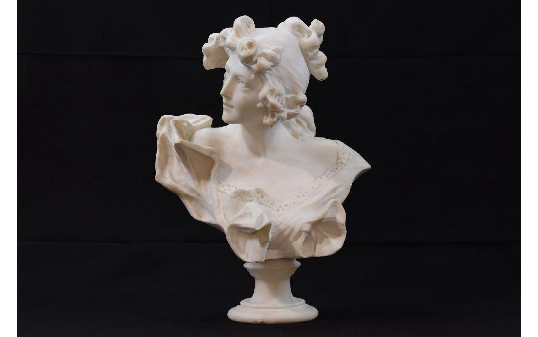 Z. Cipriani Carved Marble Sculpture