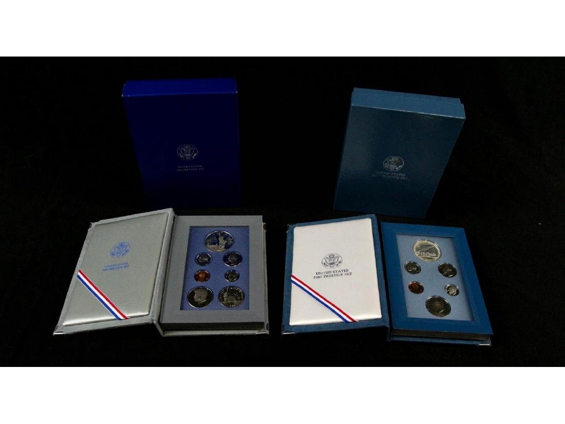 (2) United States Mint Prestige Uncirculated Sets