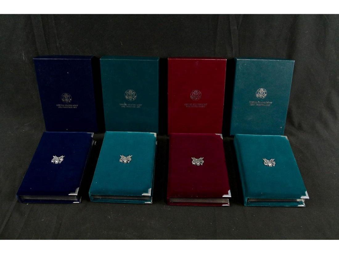 (4) United States Mint Prestige Uncirculated Sets