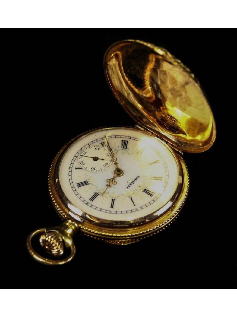 Elgin 14K Gold Pocket Watch with Diamond