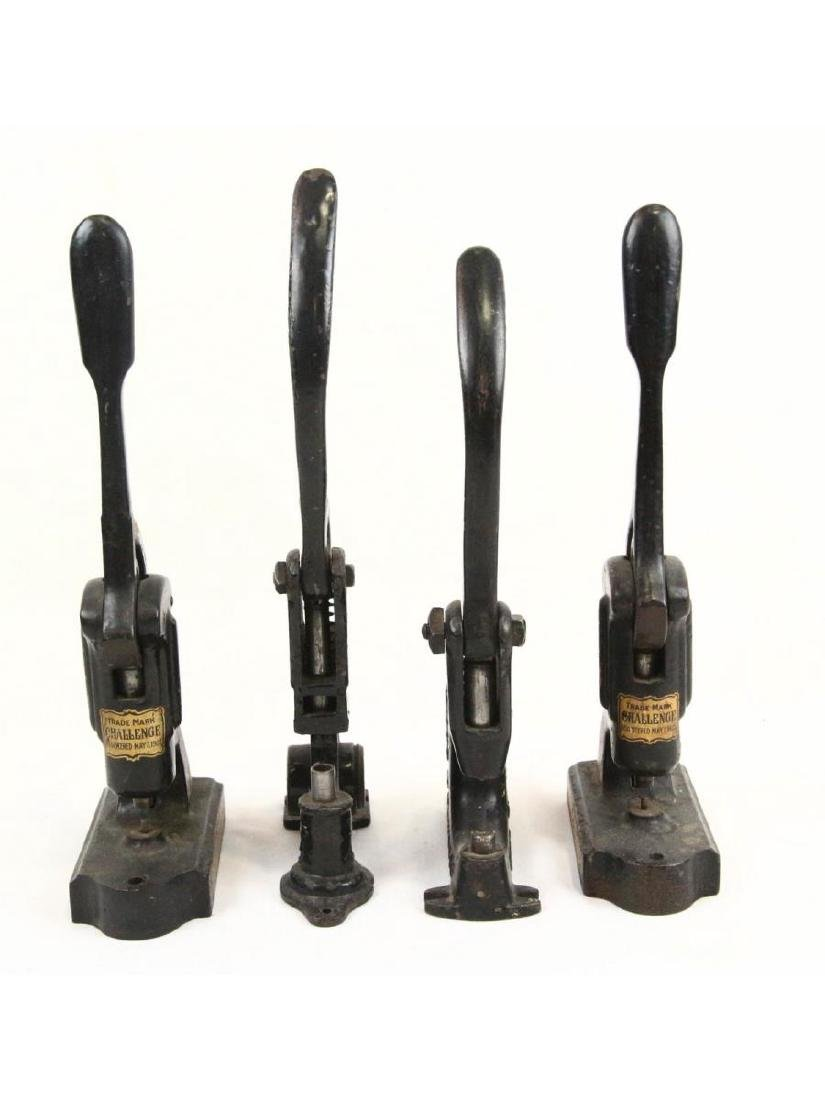 4 Vintage Hand Riveting Machines - 2