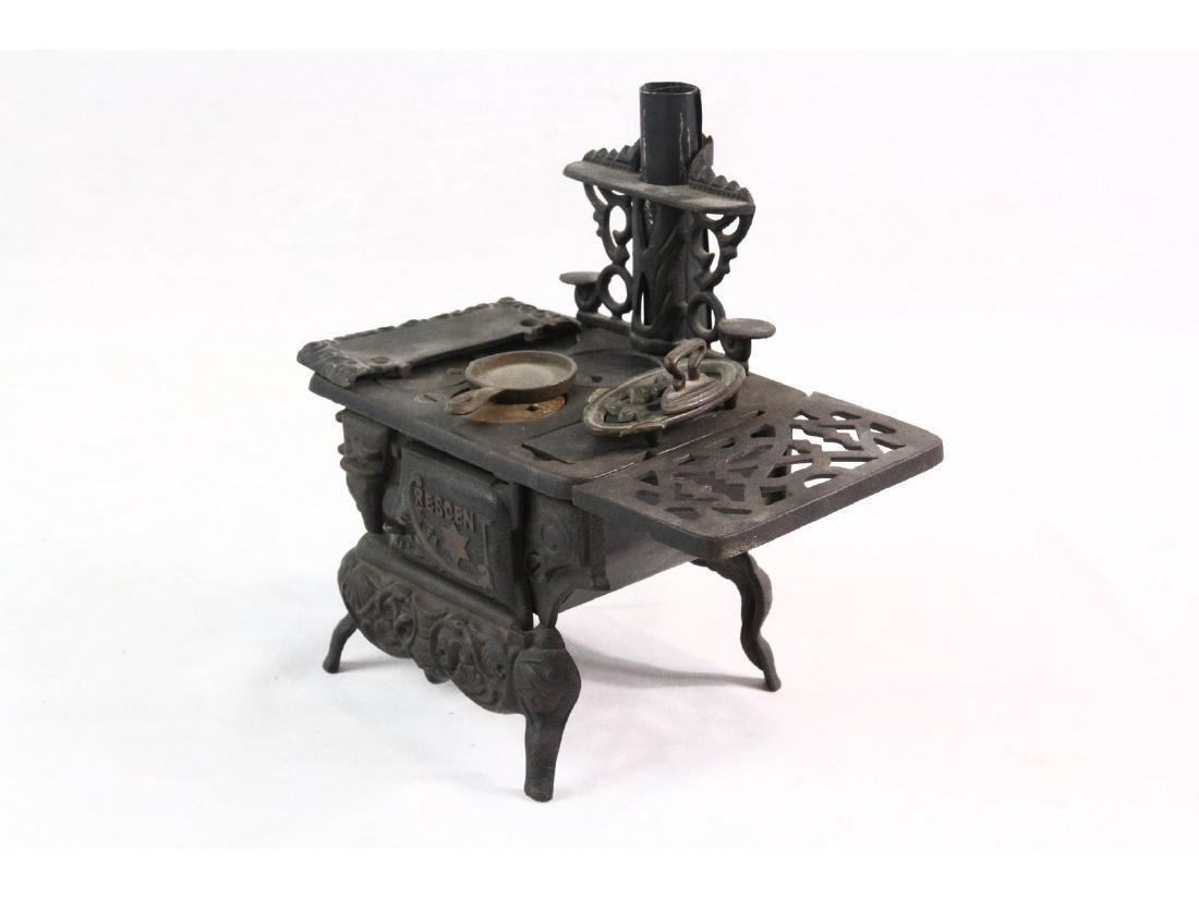 Vintage Crescent Cast Iron Toy Stove - 2