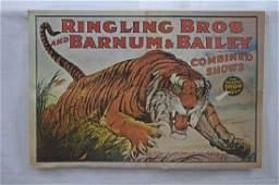 Lot of Ringling BrosBarnum Bailey Tiger Poster