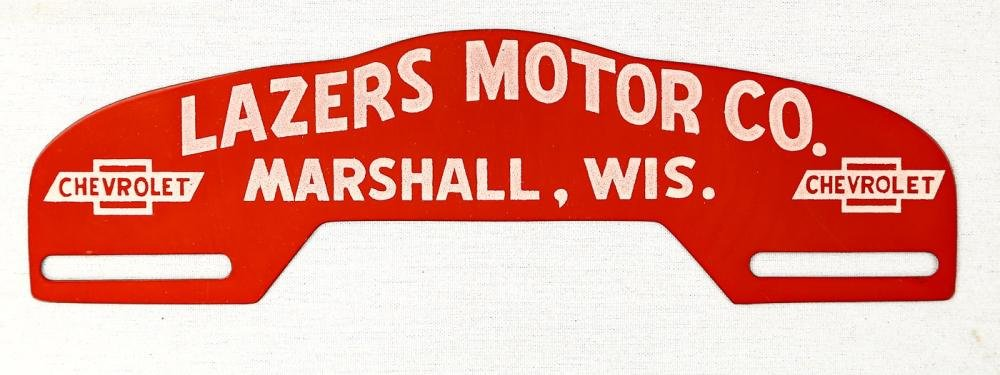 Lazers Motor Co. License Plate Topper