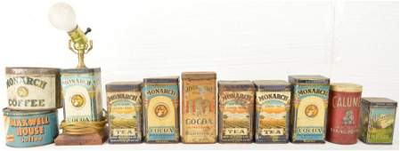 Lot of Vintage Advertising Coffee Cans