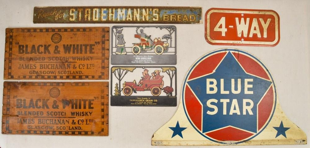 Lot of Vintage Advertising Signs
