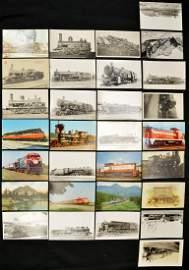 Lot Of 30 Train Postcards