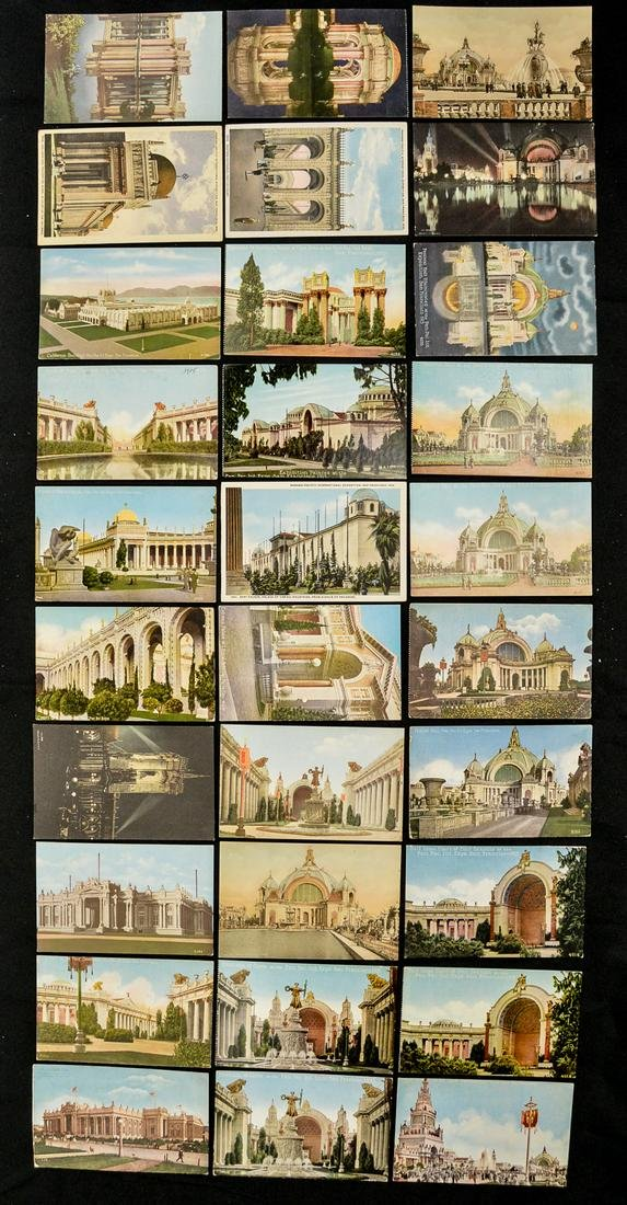 Lot Of 30 Panama Pacific Exposition 1915 Postcards