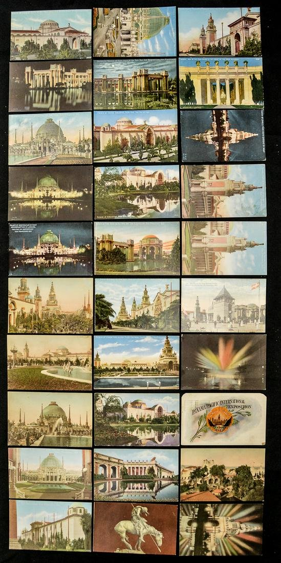 Lot Of 30 Panama Pacific Expostion 1915 Postcards