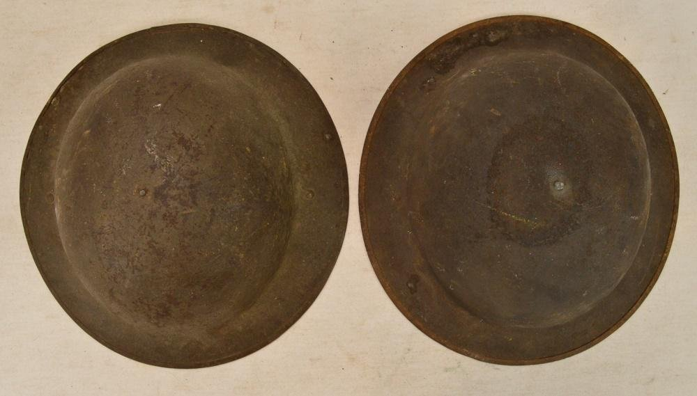 2 US WWI Doughboy Helmets