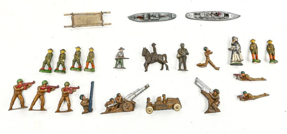 Lot of Vintage Metal Toy Soldiers