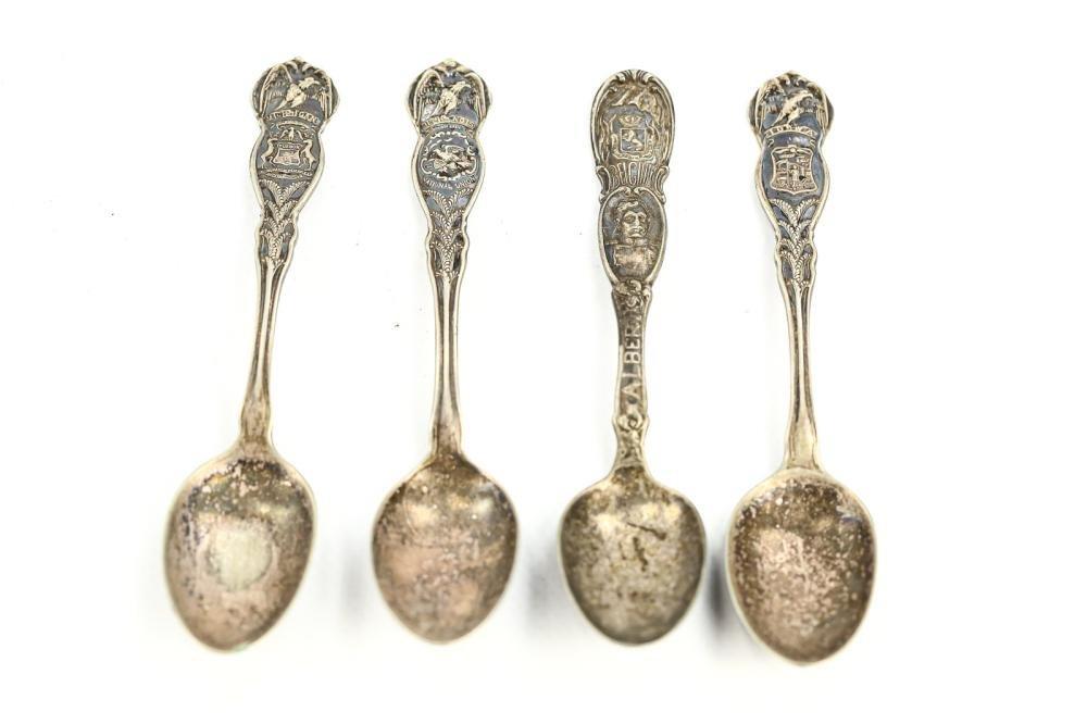WM. A. Rogers Antique Spoons IL, MI, IA (4)