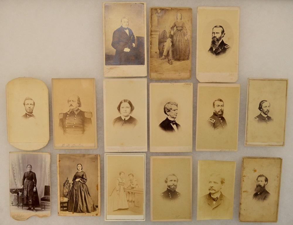 Lot of Civil War CDV Photographs