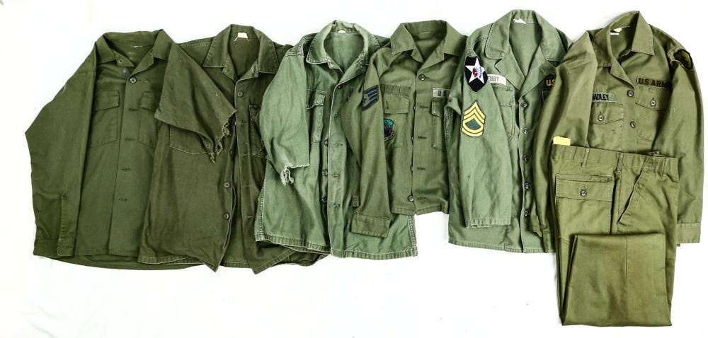 6 Vietnam Era Army & USAF Fatigues