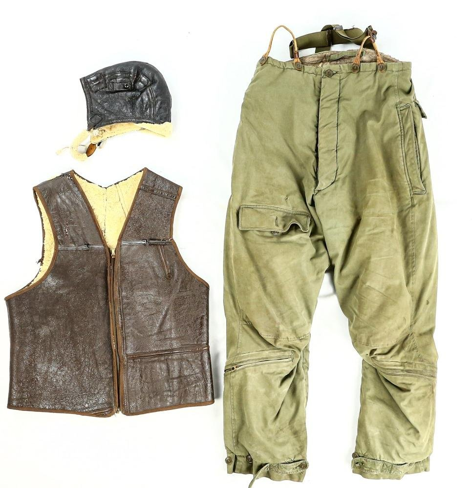 WWII US Air Corps Vest, Hat, and Pants
