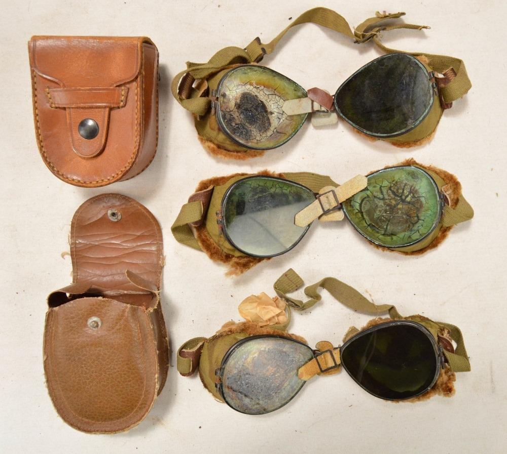 3 Pair WWII US Mountain Goggles