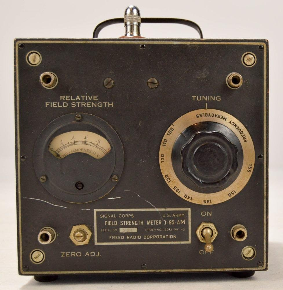 Signal Corps Field Strength Meter