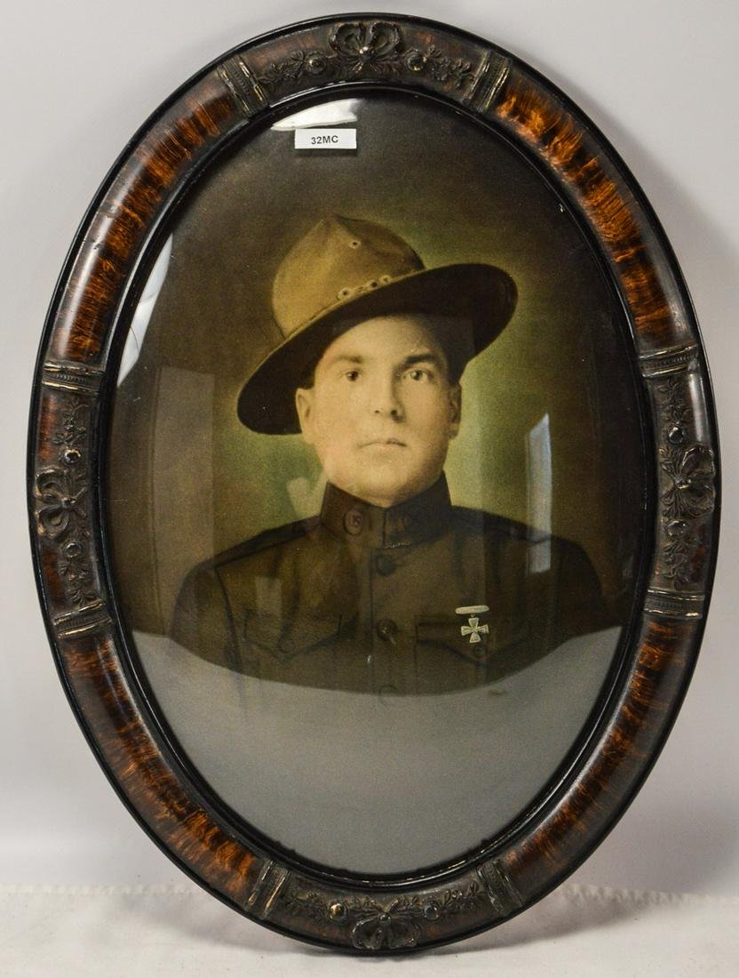WWI Framed US Army Soldier