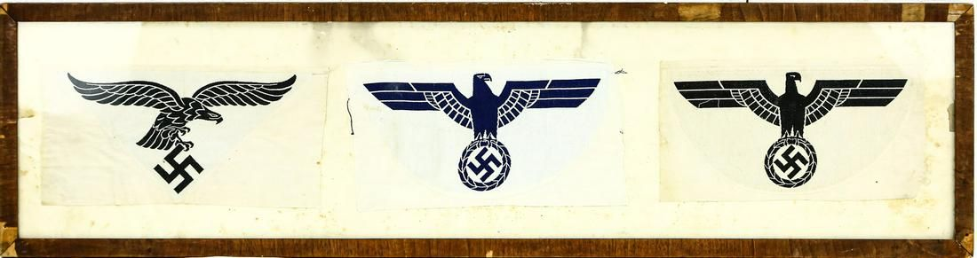 WWII German Framed Sports Shirt Emblems